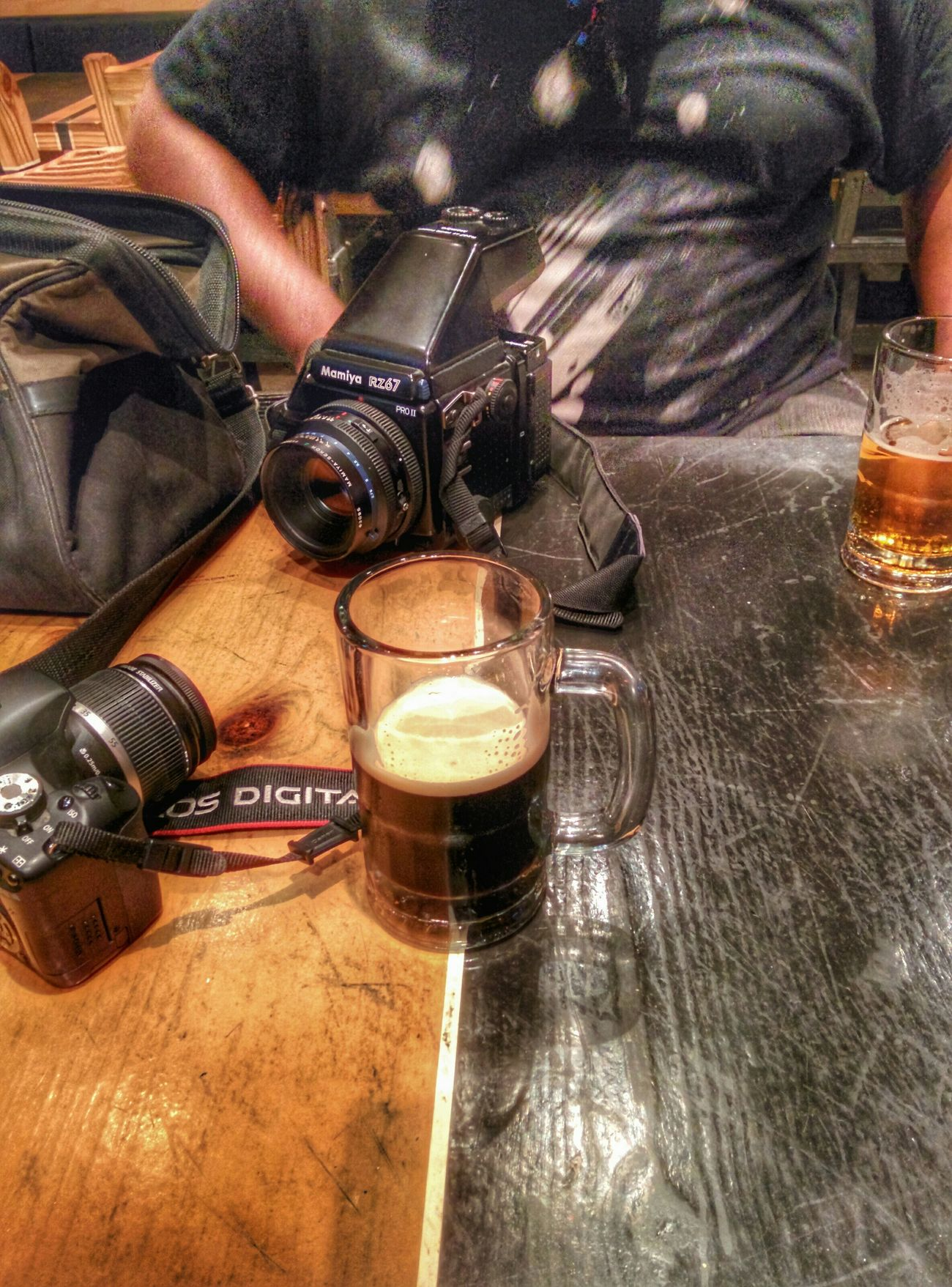 Good times Mamiya Rz67 Canon T1i Beer Milk Stout Good Times Bar Austin Texas Snapseed Mamiya