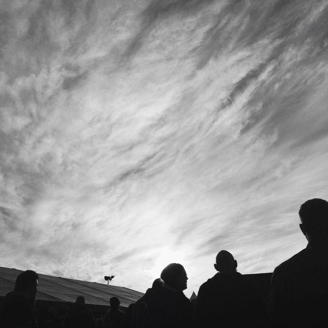 Sunset Sweden Rock Festival Monochrome Blackandwhite Black And White