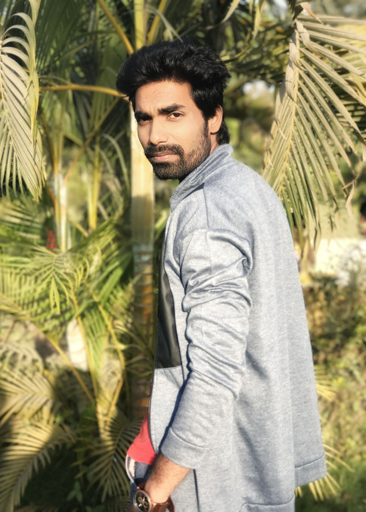 Fashion Portrait Beard One Man Only Men Lifestyles Only Men One Person Palm Tree Adults Only Tree Adult Outdoors Modern Young Adult People Day Robinraj Alpha