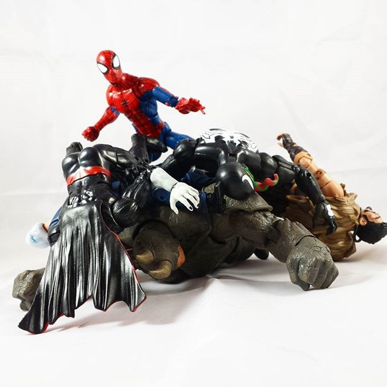 Spiderman Morbius Chameleon Jackolantern Kraventhehunter Venom Rhino Marvel Marvellegends Marvelcomics Toys Toyphotography Toypizza Toysarehellasick Toycollector Toycommunity Toycollection Thefigureverse Ata_dreadnoughts ATA_MARVEL ACBA Acbafam Articulatedcomicbookart