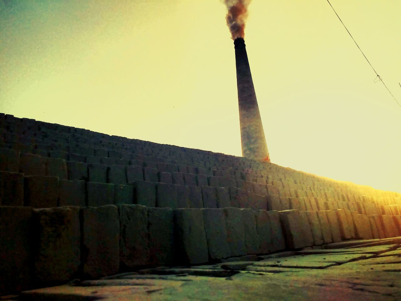 How Do We Build The World? Bricks Foundation Structural Unit Chimney Smoke Pollution Village Photography Factory Chimney Eyemphotography Check This Out Beautifully Organized