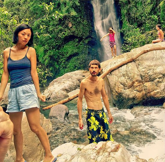 ..had an amazing walk into hanging waterfall in yilan ..we Blew This Day Away.. Colour Portrait Portrait Of A Friend Color Portrait Emography Portraits Swimming Hanging Out Children's Portraits ..I Will Stand Tall