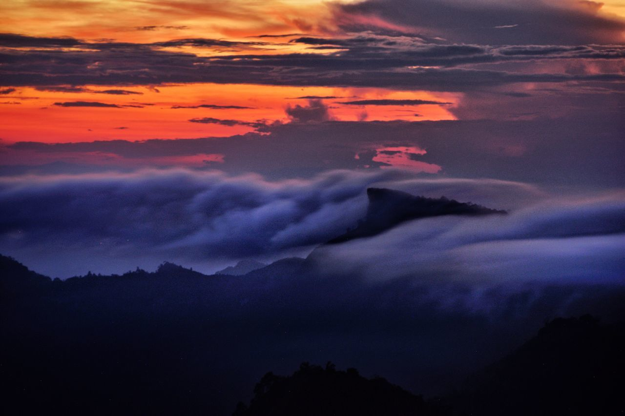 Refreshment Landscape Destination Traveling Exploring Journey Mist Sunset Skylight Cloud - Sky Beauty In Nature Dramatic Sky Sky Scenics Nature No People Tranquility Atmospheric Mood Idyllic Tranquil Scene Outdoors Storm Cloud Mountain Power In Nature Day