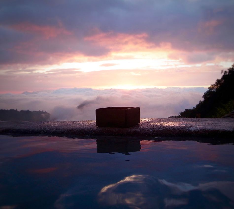 Water Reflection Sky Nature Tranquility Sunset Beauty In Nature Tranquil Scene No People Outdoors Cloud - Sky Scenics Sea Day Spa Hotspring Mountain Onsen