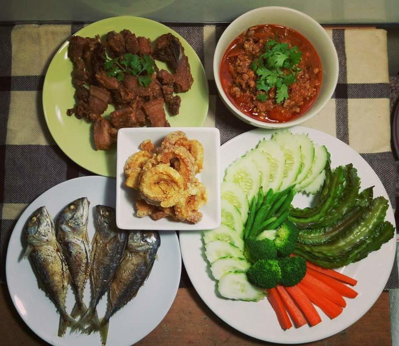 A big meal with my family Food I Like Thai Food Homemade