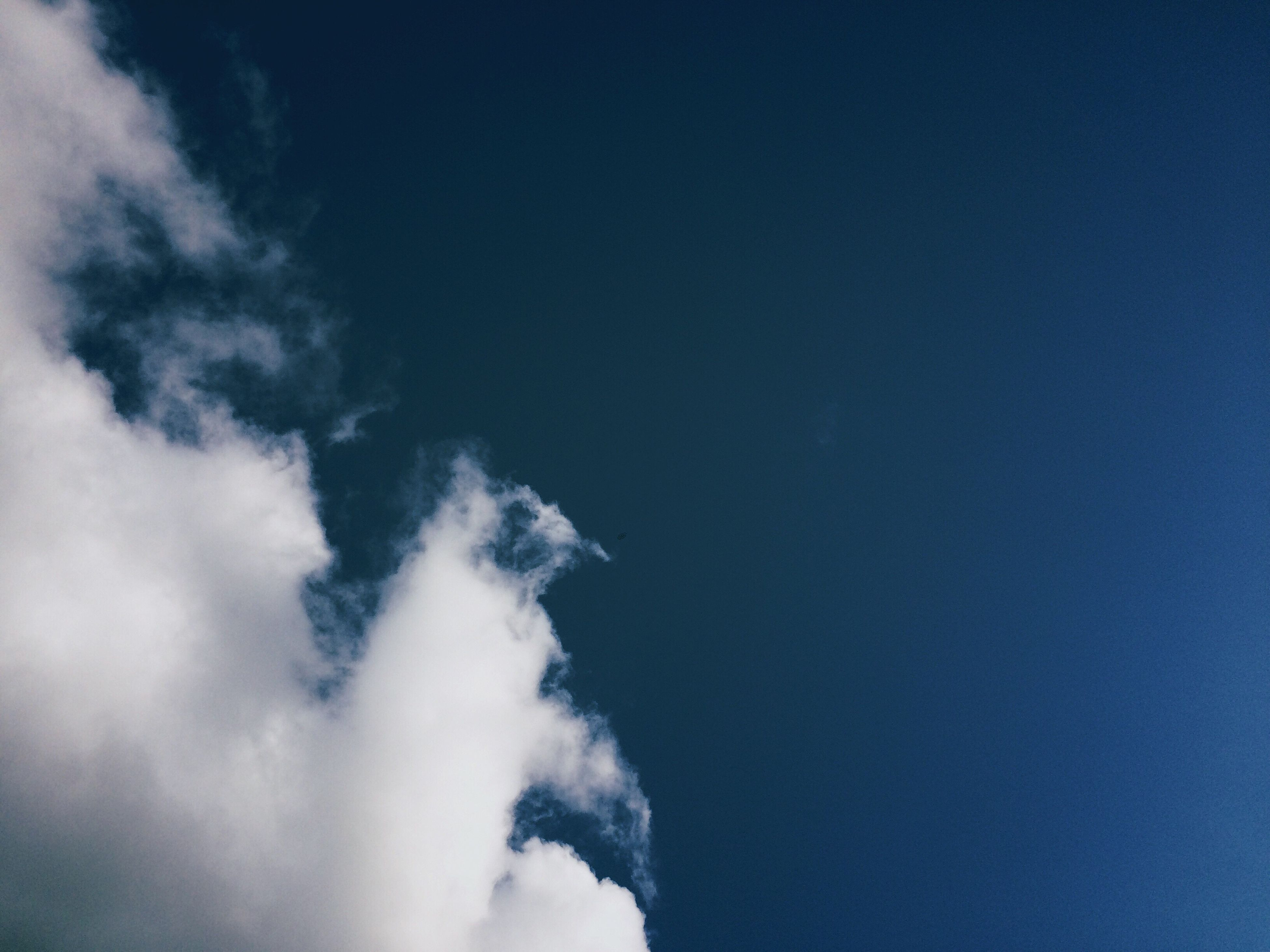 low angle view, tranquility, sky, beauty in nature, blue, scenics, nature, tranquil scene, cloud, day, sky only, outdoors, majestic, cloud - sky, no people, cloudscape, dreamlike, heaven, non-urban scene
