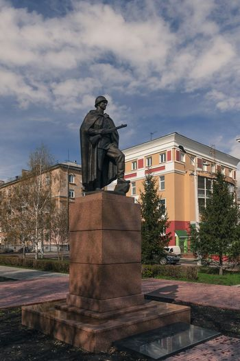Soviet Russian Soldier Warrior Liberator Peacemaker Monument Novokuznetsk Kuzbass Siberia