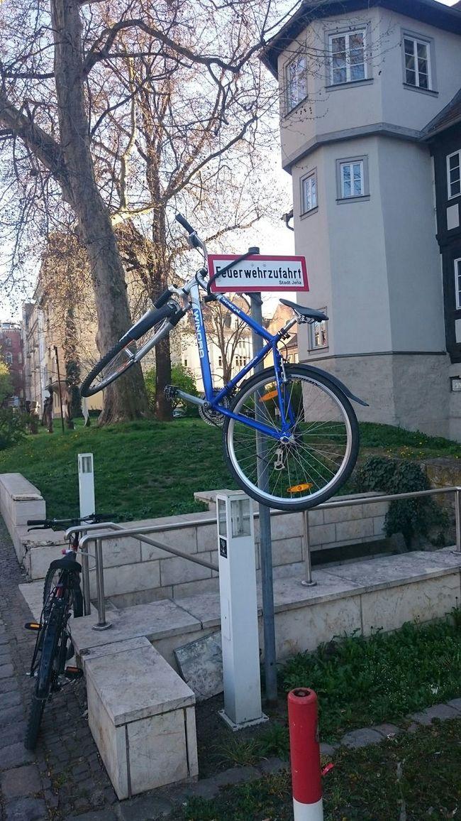 Fahrrad Fahrradabstellplatz Lustig Parken Parking Bike