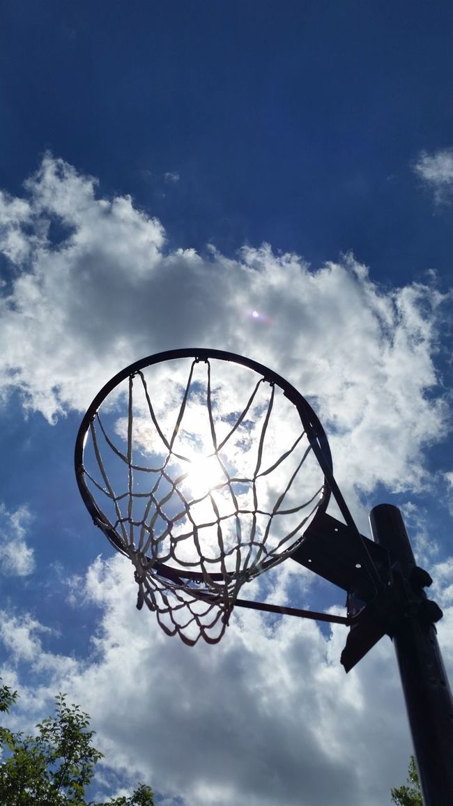 SUMMER HOOPS basketball outside on a hot summer day Essence Of Summer Basketball Hoops Sky And Clouds Game Sport Sports Photography Hanging Out Check This Out Taking Photos Relaxing Enjoying Life Simple Things In Life Happy Simplicity Simple Photography Simple