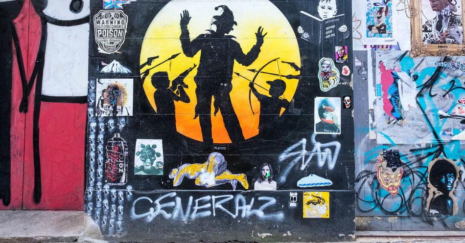 Hands Up Brick Lane, East London Hands Up Multi Colored No People Spray Paint Street Art Street Art/Graffiti Surrender... London Lifestyle