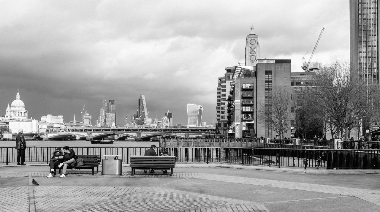 South & North Bank Architecture Building Exterior Built Structure Capital Cities  City City Life Cityscape Cloud Cloud - Sky Cloudy Day Modern No People Outdoors Overcast Showcase April Sky Tall - High Tourism Travel Destinations Urban Skyline Weather