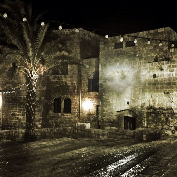 Tlv Telaviv Israel Oldjaffa jaffa ancient night building tree oriental urban nightcap