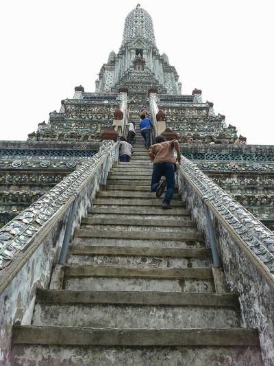 Wat Arun Watarun Bangkok Thailand Climbing Steep Temple Impressive Original Experiences View