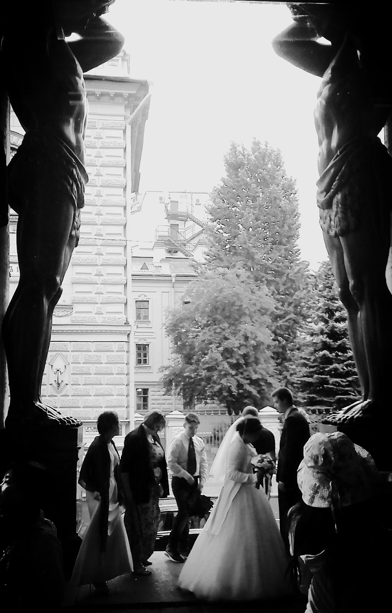 Marriage  Wedding Giants Statues Sanpietroburgo Ermitage