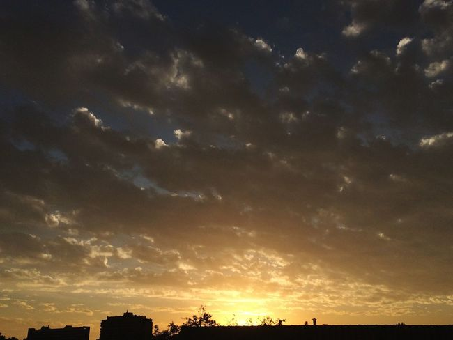 Clouds And Sky Sunset Calm City Santiago De Chile Capital Cities