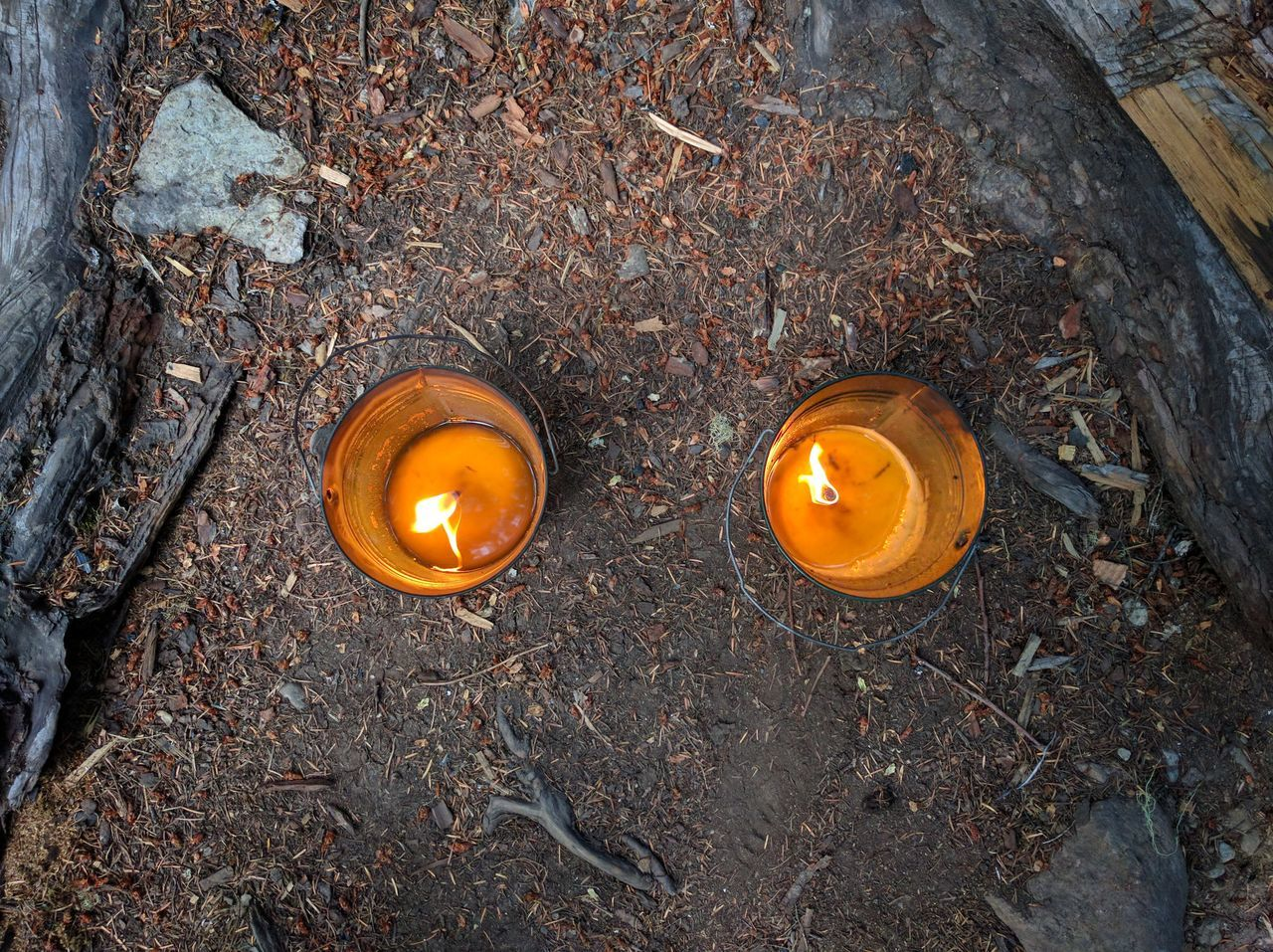 Camping in Eastern Washington Burning Camping Campsite Candle Close-up Day High Angle View Indoors  Metal No People Orange Color