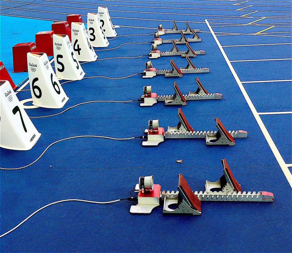 Rio2016 Ready Steady Go! On Your Marks.... Beginning Technology Precision Faster
