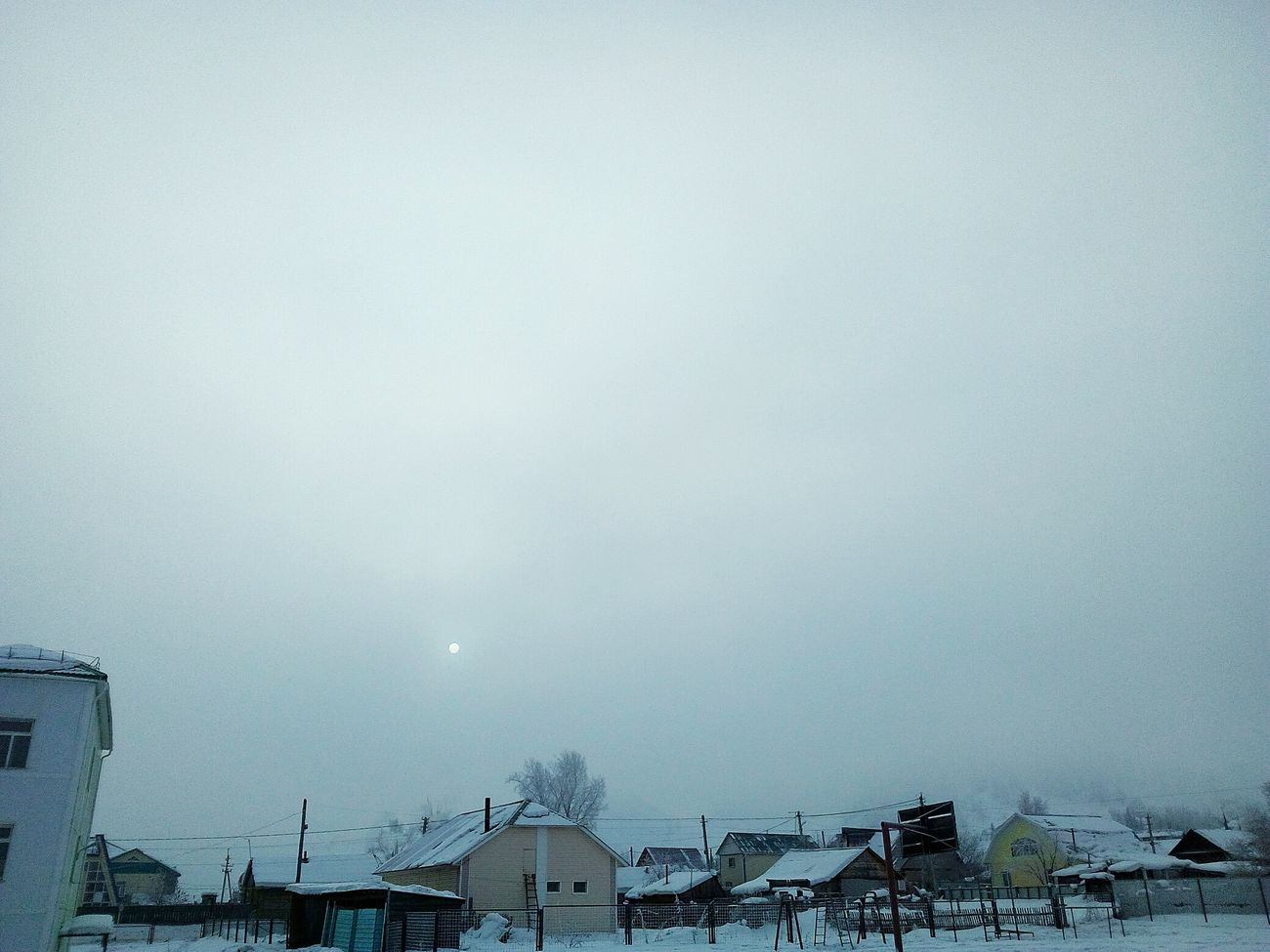 Snow Snow ❄ Snowing ❄ Snowing Snowing Day Winter Sun Moon Beautiful Beautiful Day World Nice Built Structure Building Exterior Sky Architecture Fog No People Outdoors Nature Day Cityscape First Eyeem Photo