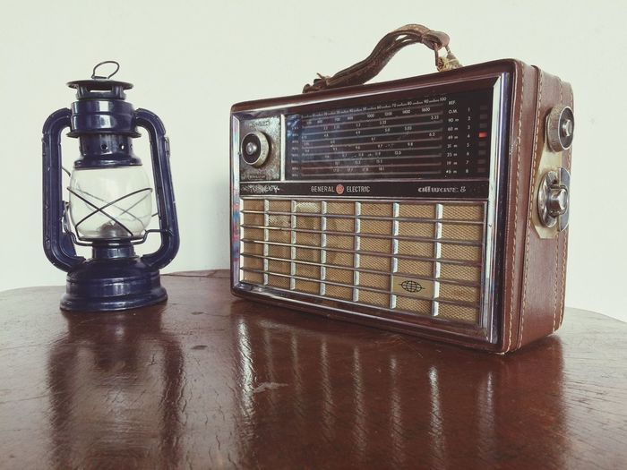 Old-fashioned Retro Styled Radio Music Old Antique Analog Table Close-up Technology No People Musical Equipment Vintage Indoors  Day