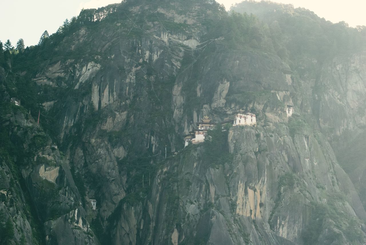 Architecture Bhutan Built Structure Cliff Monastery Mountain Rocky Mountains Tiger's Nest