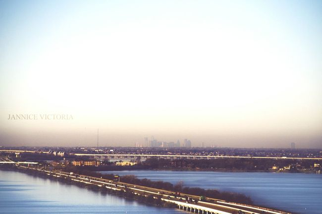 If you look closely you can see the dallas skyline on the horizon Rockwall Dallas Dallasskyline Horizon Lake Lines Beautiful Sunrise Showcase: January