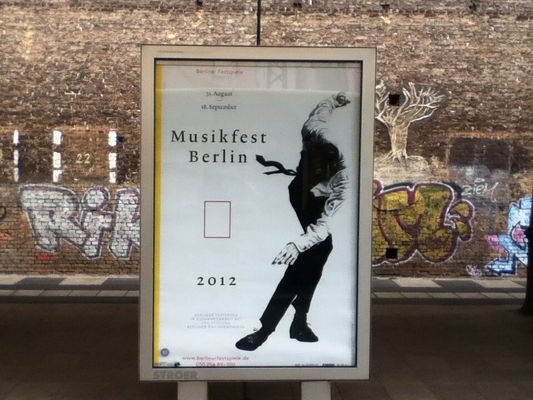 advertisement at S Savignyplatz by Beatrice