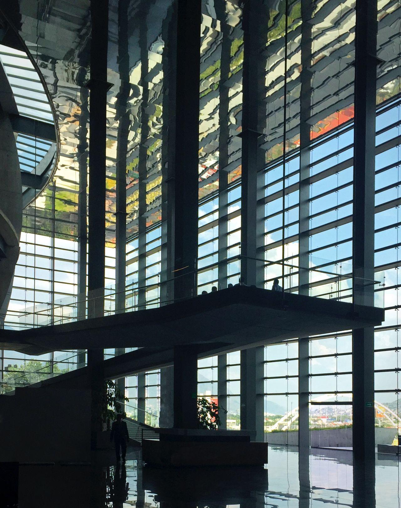 352 / 366 Agustin Landa Agustinlanda Architecture Building Built Structure Glass - Material Lines And Shapes Pabellon M PabellonM Silouette Silouette & Sky Window