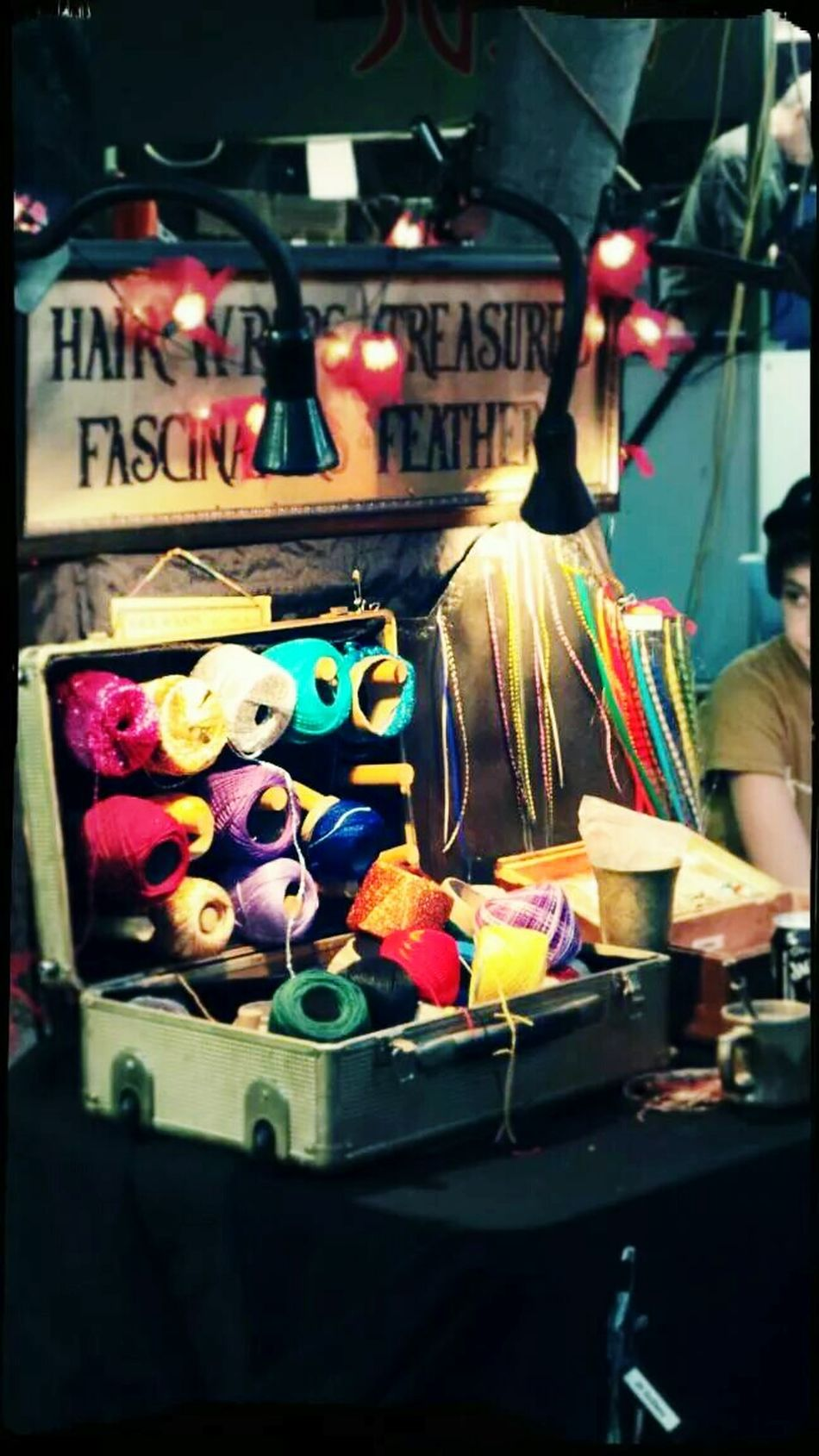Found On The Roll Market Stall Wool Colors Suitcase Of Tricks