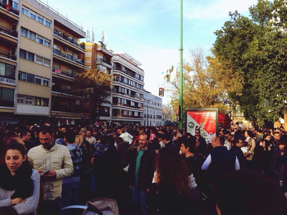 There were a lot of people at the Cabalgata...
