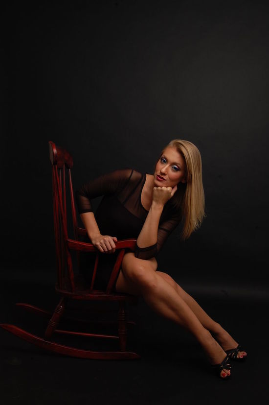 Blondy Blondy Casual Clothing Confidence  Contemplation Fashion Front View Happiness Leisure Activity Lifestyles Long Hair Looking At Camera Old Chair Person Portrait Real People Women Young Adult Young Women Beauty Women Who Inspire You Studio Studio Photography No Filter, No Photoshop