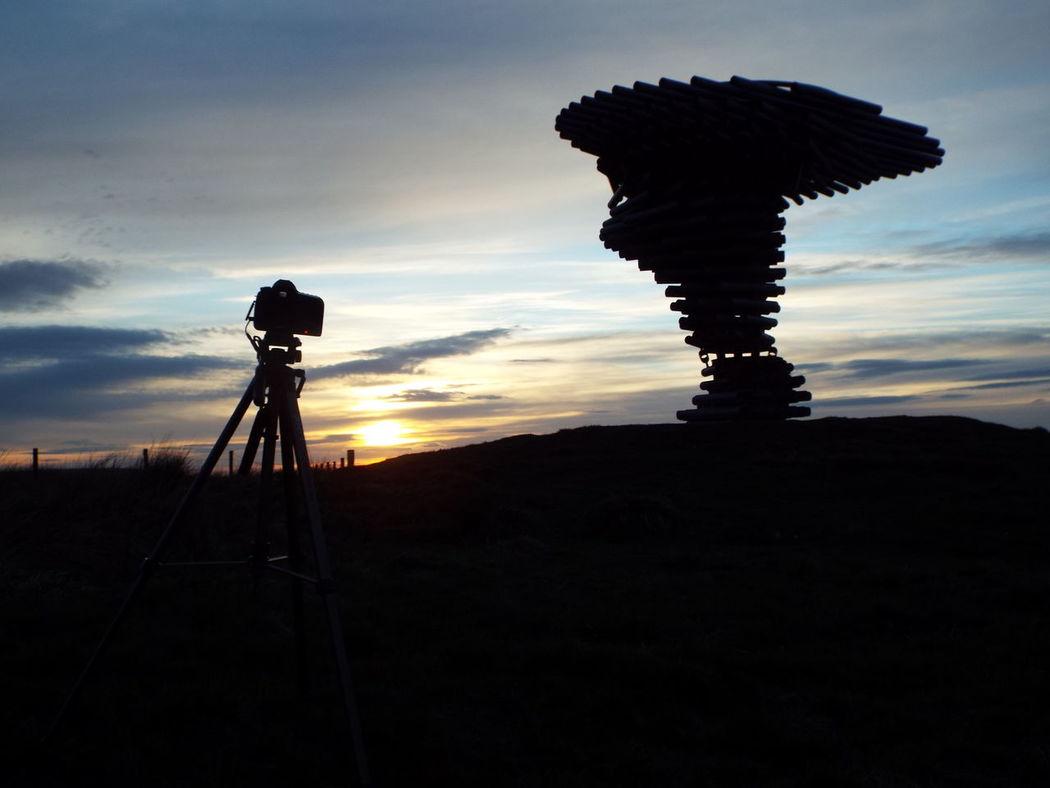 Pipes Tubes Landmark Pennines Pennine Moors Sculpture Silhouette Silouette & Sky Camera Tripod Minimalist Architecture