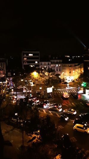 Cities At Night Lights Lights In The Dark Cars Headlights Street Street Photography Vibrant Color Buildings View From Above View From The Window Paris, France  Porte De Champerret