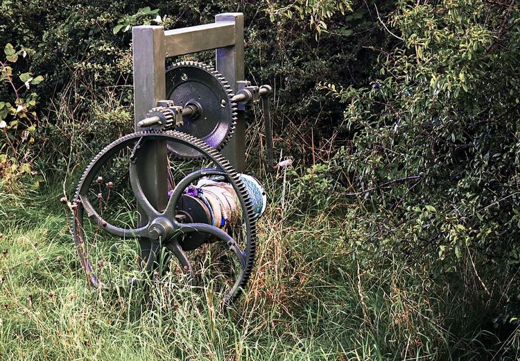 Coastal Feature Grass Instruments No People Outdoors Rope Swing Shipwreck Wheel