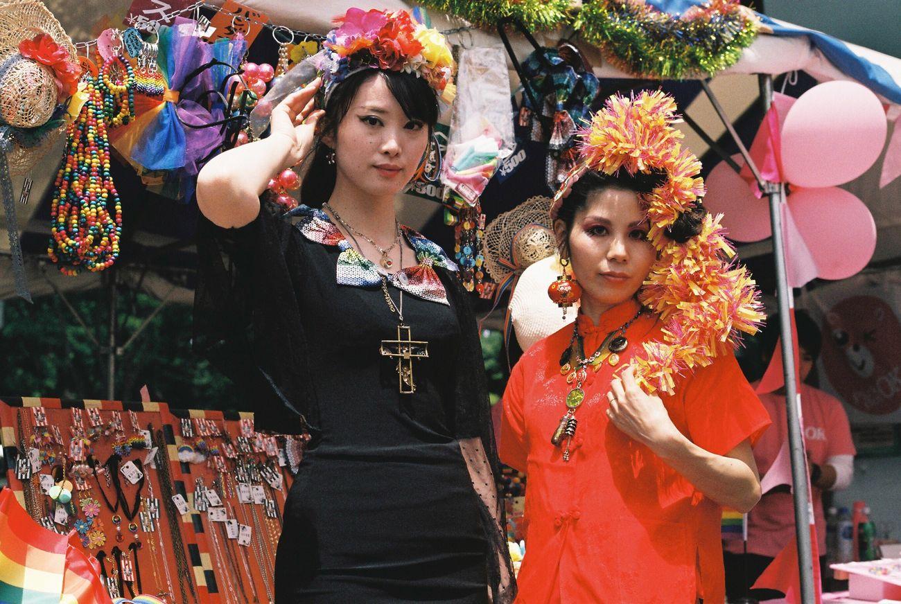 Gomi kondon store from KYUSHU 九州 in Tokyo Rainbow Pride 東京レインボープライド at Yoyogi Park 代々木公園 Tokyo Japan 東京 日本 セクマイ Lgbt Lgbt Pride Lgbtaiq Canon F-1 Film Photography 35mm Film
