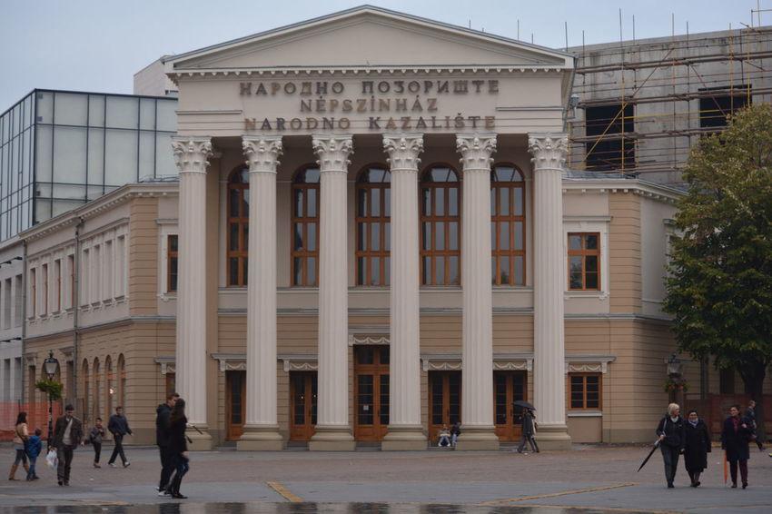 Architectural Column Architecture Building Exterior Built Structure City Life Façade Famous Place In Front Of Kazalište Pozoriste Theater Theatre