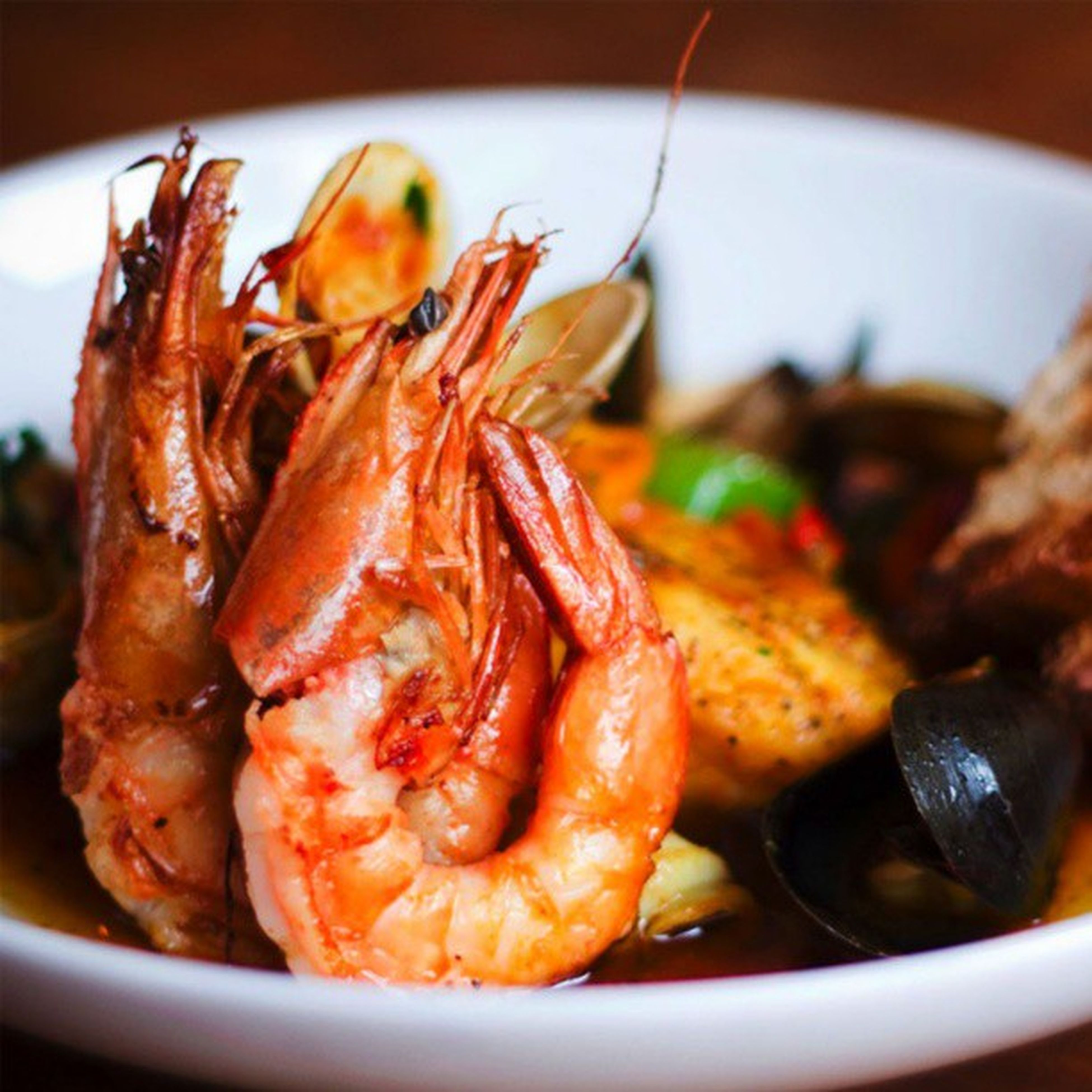 food and drink, food, indoors, freshness, close-up, seafood, healthy eating, plate, still life, ready-to-eat, meal, serving size, selective focus, meat, focus on foreground, prawn, shrimp, indulgence, served, cooked