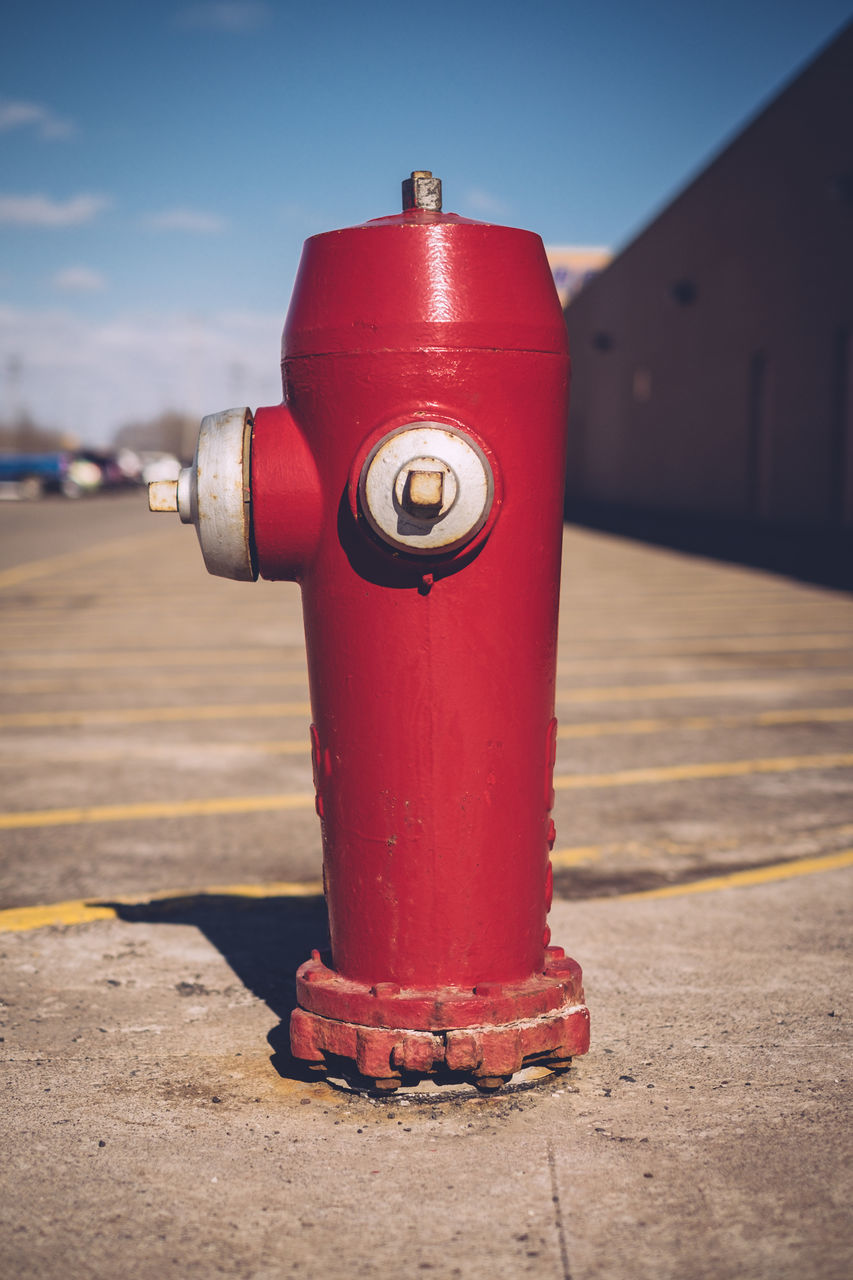 Close-Up Of Fire Hydrant Against Sky
