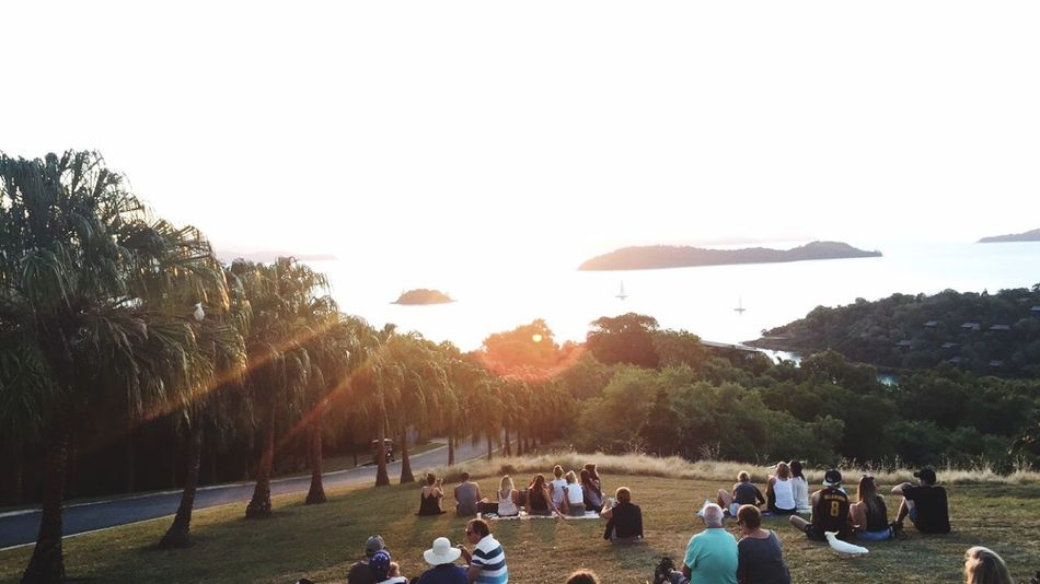 Watching the sun set over the ocean from Hamilton island in Australia! Hamiltonisland Australia Sunset People Watching People First Eyeem Photo