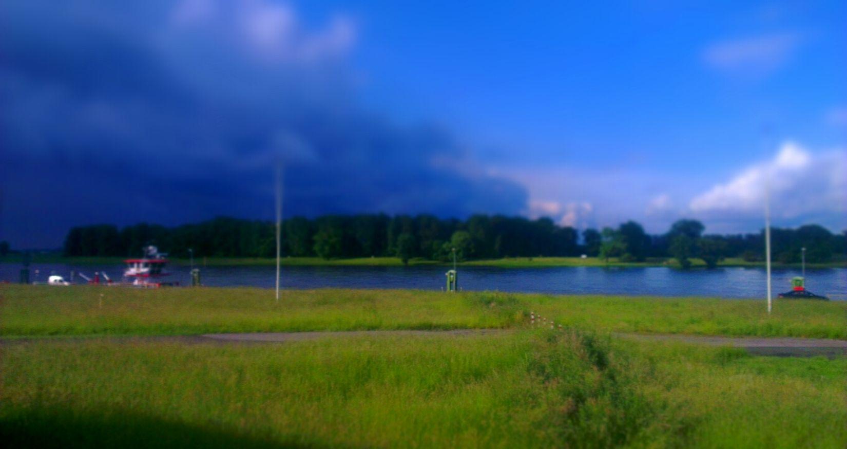Dunkler Himmel Dunklewolken Unwetter