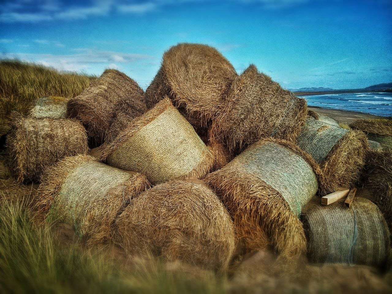 Hay Bales Blue Sky Beach Coastal Defences Ireland Hidden Places Warm Showcase: February How Do We Build The World? Landscapes With WhiteWall Blue Wave Telling Stories Differently My Favorite Photo The Great Outdoors With Adobe Feel The Journey 43 Golden Moments
