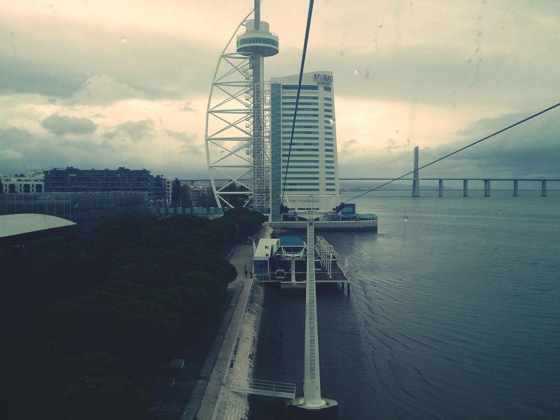 Vasco Da Gama Bridge High Wire Lisboa Lisbon Bad Day