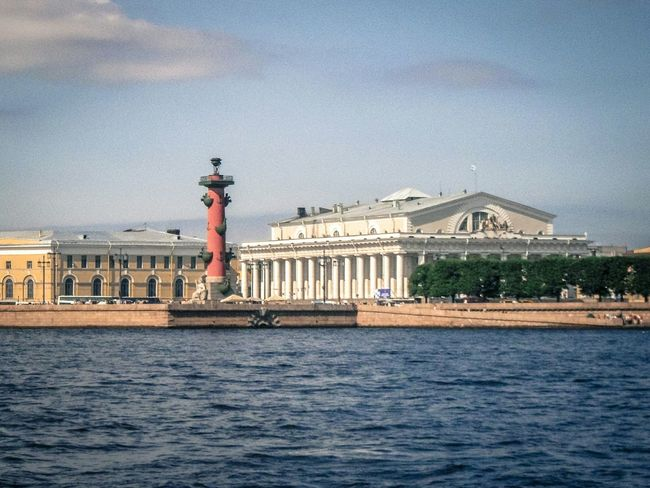 River Buildinds Palace City View  Leningrad Sain Petersburg Russia