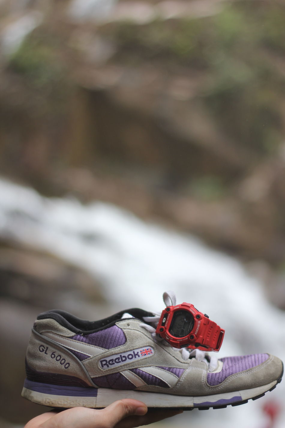 Reebookclassic Reebook GL6000 Gshock Gshocklover Outdoors Day No People Close-up Nature Canon Canon60d 50mm F1.8 Waterfall Landscape Landscape_photography Nature Photography Portrait
