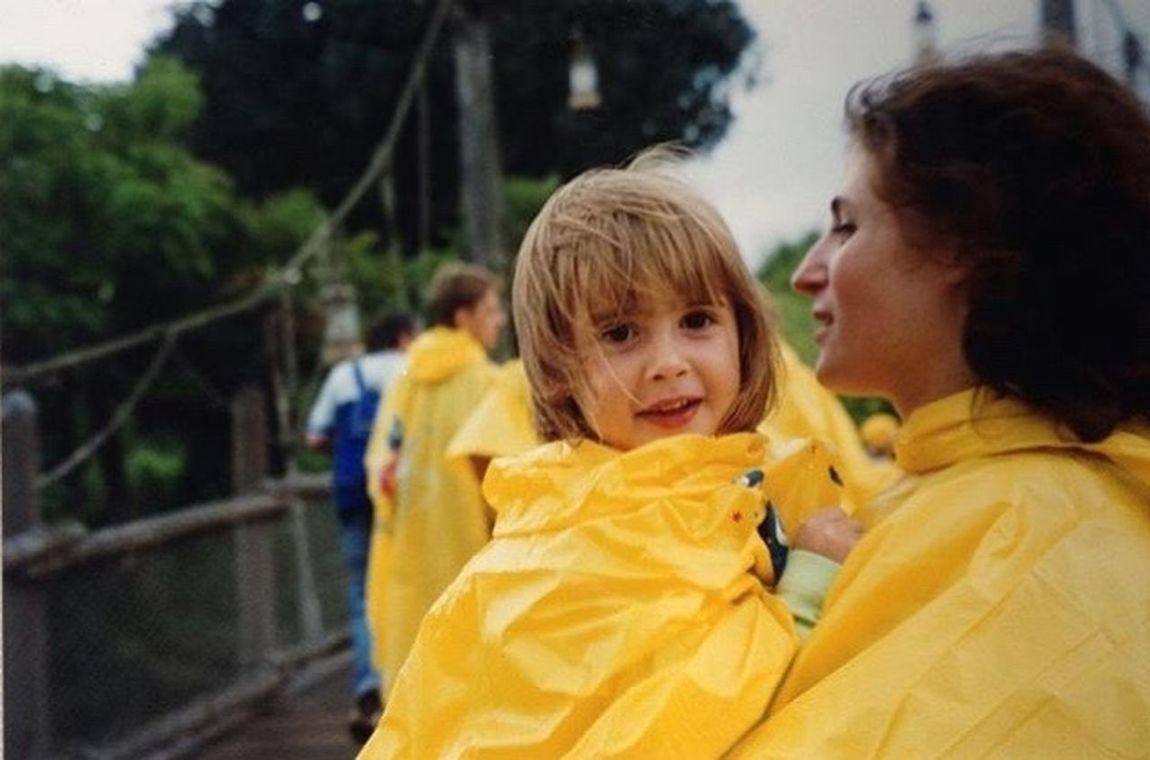 In my past. Childhood Child Mother Motherhood Disney Disneyland Disneyland Paris 90s Yellow Focus Girls Little Girl Past Uniqueness
