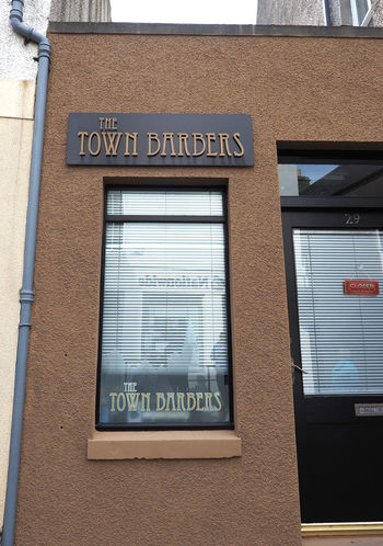 Kirkwall - Orkney Islands, Scotland Architecture Day Outdoors Text Communication Scottish Highlands Close-up Guidance No People Remote Location Building Exterior Built Structure Western Script Orkney Islands A Taste Of Scotland Bleak And Cold Barbers Shop Kirkwall Barber