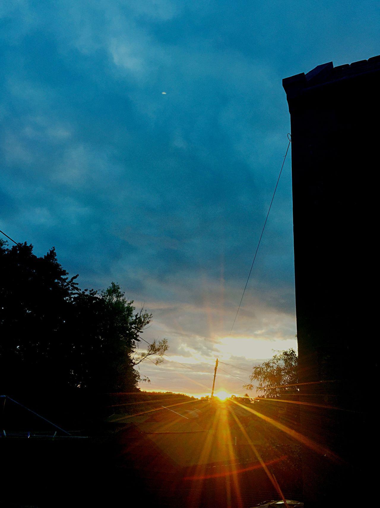 Sunrise Scotland Sunbeams Sunrays Sky Skyporn Pretty Summer Morning Photo Wtf Is That In The Sky?