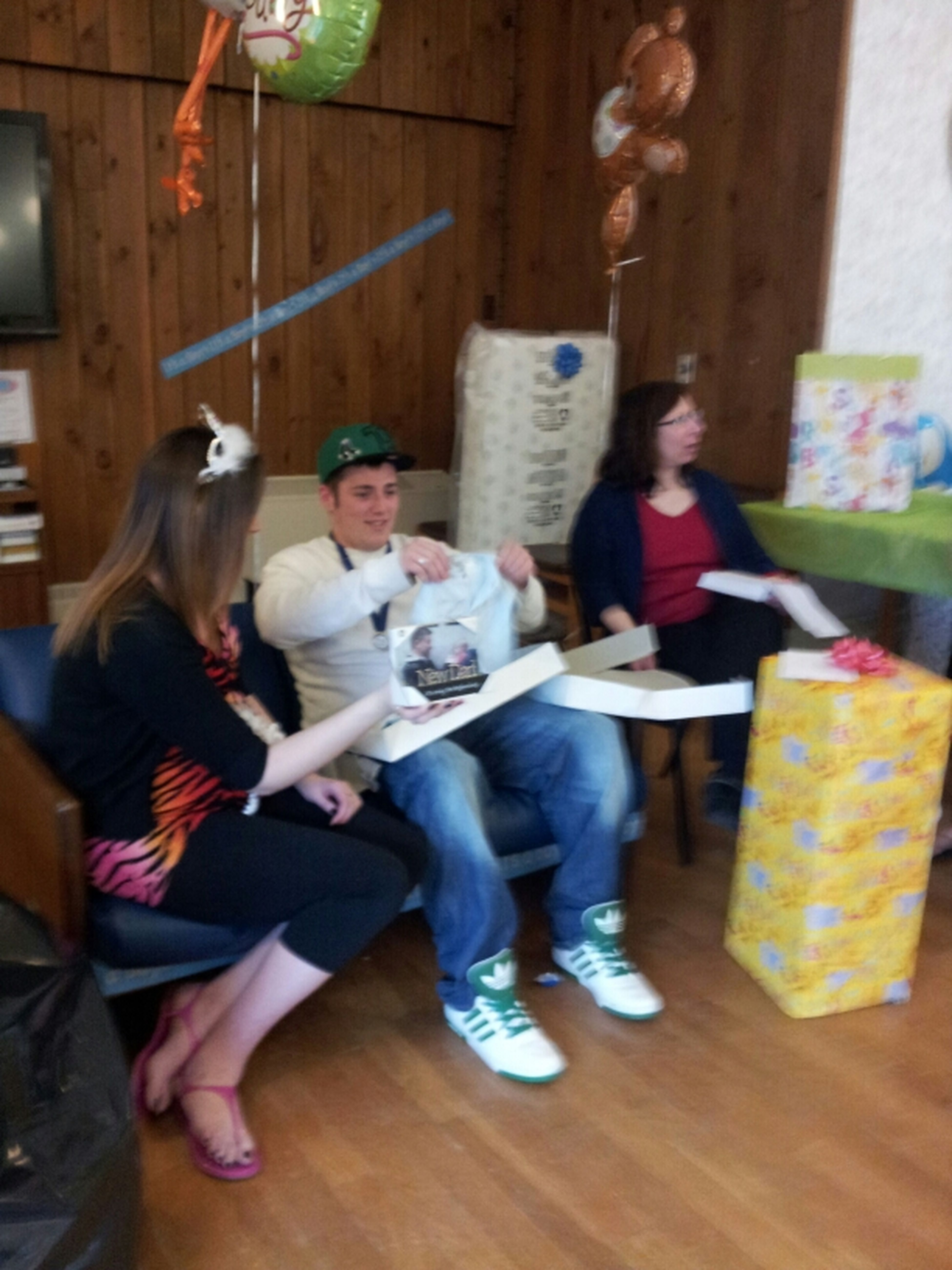 My Son Chris & Kendall Opening Gifts At Babyshower
