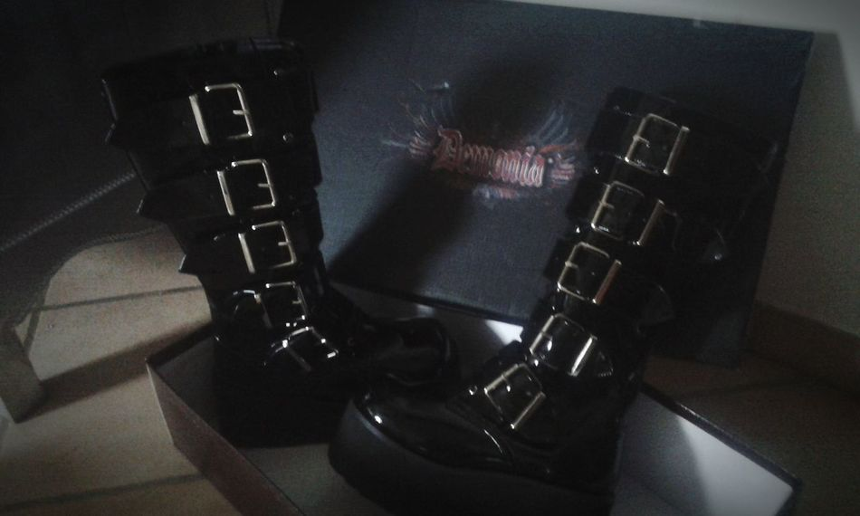Demonia Demoniashoes Boots Dark Black Happiness Loveit