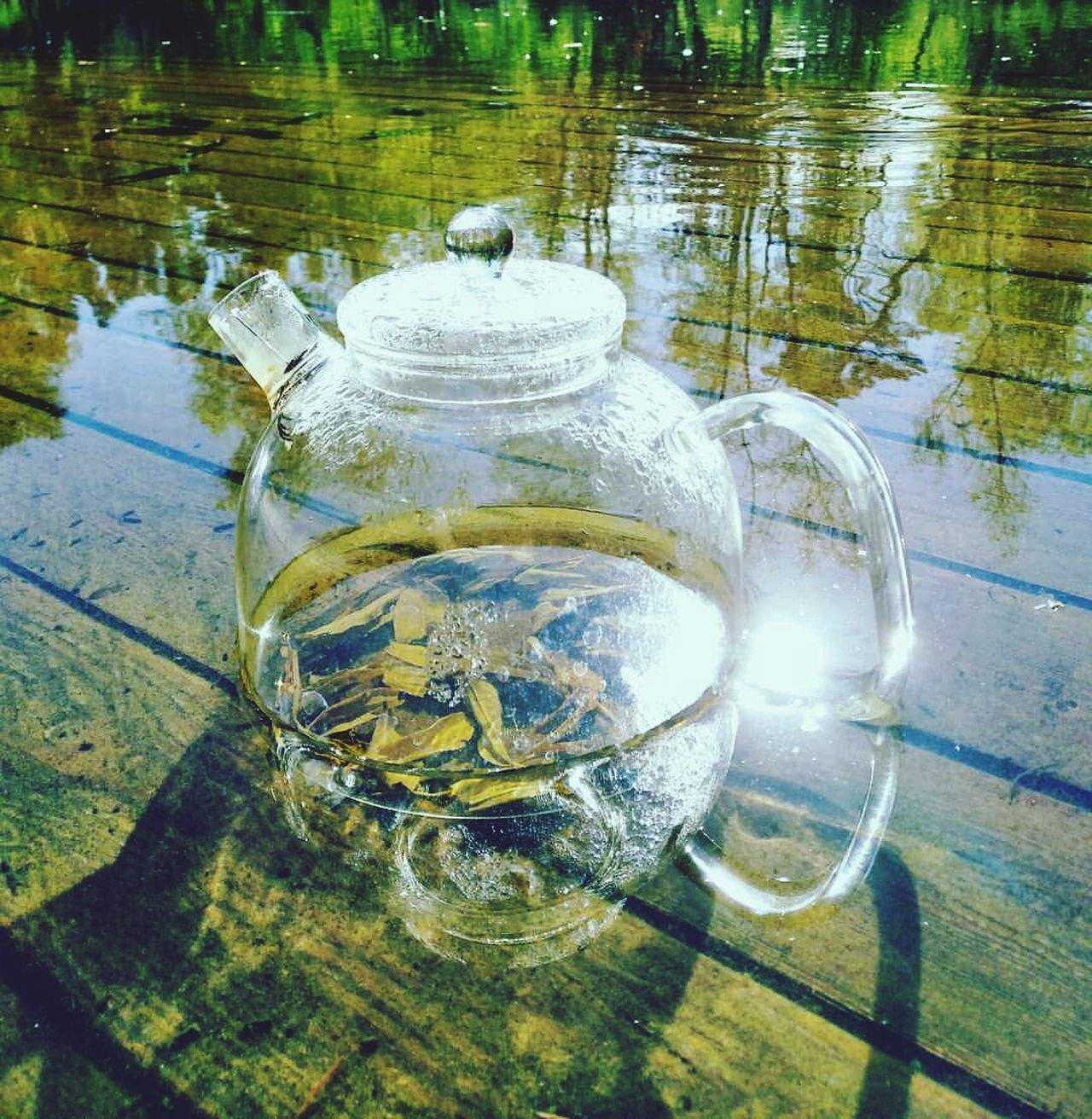Water Refreshment Drink High Angle View No People Drinking Glass Day Outdoors Close-up Freshness Reflection Colour Of Life Nature Tea TeaCup Refreshment Sunlight Healthy Lifestyle Tea Is Healthy Beauty Wellbeing Tea - Hot Drink Gold Colored Tea Light Beauty In Nature