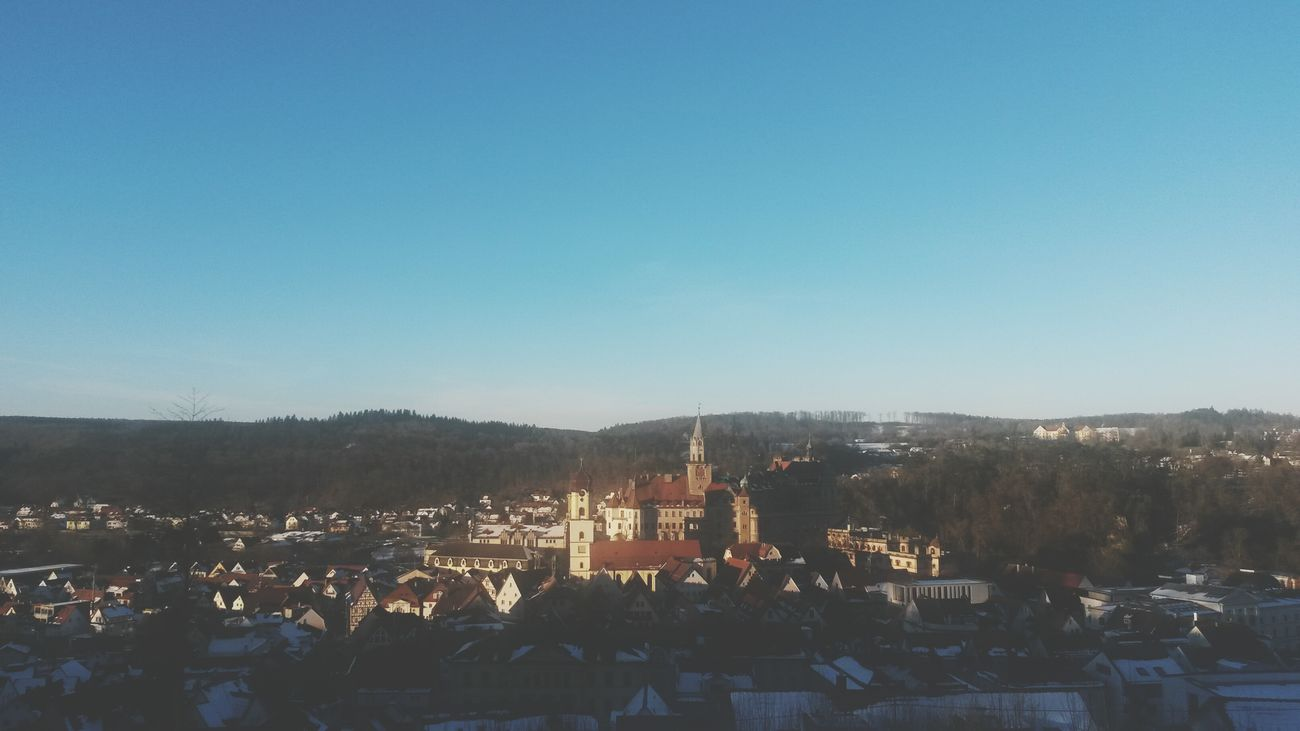 Landscape City Sigmaringen Winter Sun Set